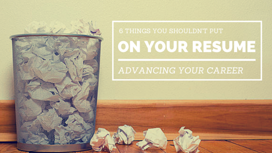 6 things you shouldn t put on your resume resolution technologies
